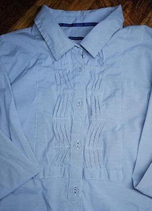 Рубашка-туника в голубую полоску