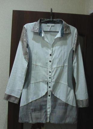 Удлиненная рубашка-туника