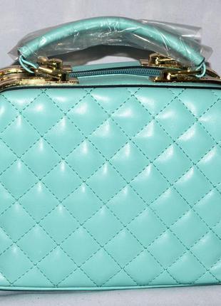 bd6e35842ce2 Женская бирюзовая сумка саквояж dovili с ремешком 26*16 см, цена ...