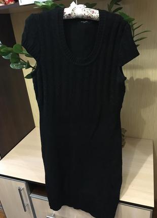 Черное теплое платье