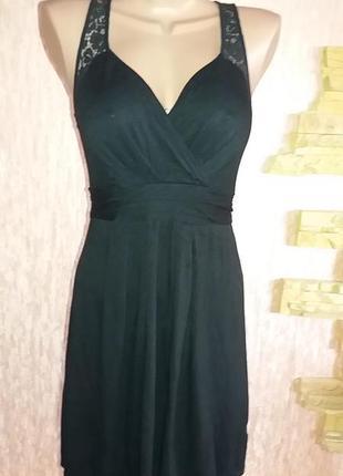 Платье трикотажное  кружевное next