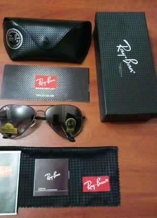Очки ray ban aviator солнцезащитные