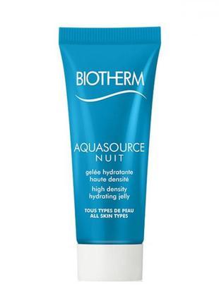 Biotherm aquasource ночное увлажняющее желе для лица, 20 мл.