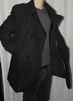 Jasper conran котоновый мужской двубортный плащ классика пальто оригинал 5985f3ff91c07