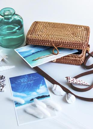 Прямоугольная сумочка с острова бали
