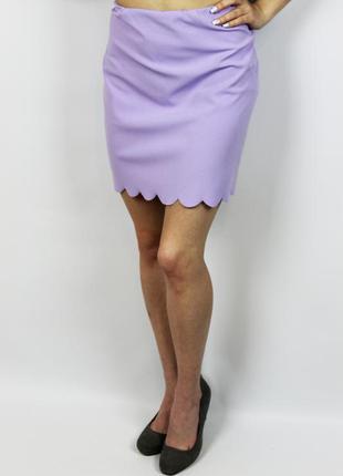 Мини юбка лилового цвета с интересной окантовкой boohoo