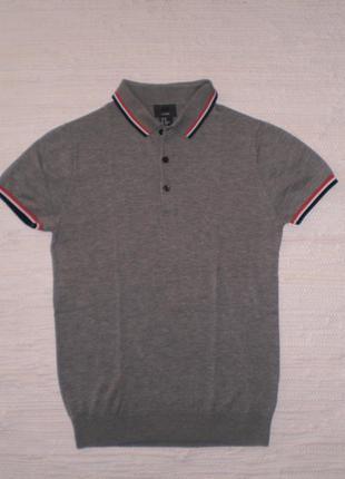 H&m: рубашка-поло из хлопка и шелка