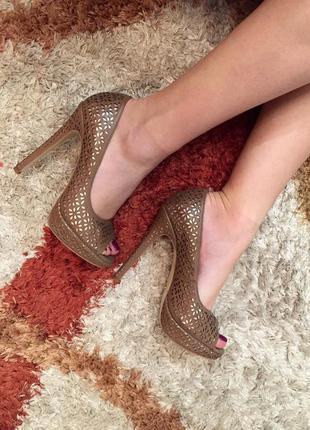 Туфли miraton бронзовые