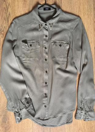 Рубашка хаки f&f