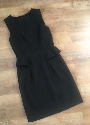 Платье  с баской  french connection