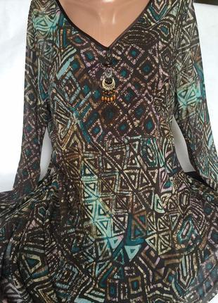 Шикарное платье шифон большого размера