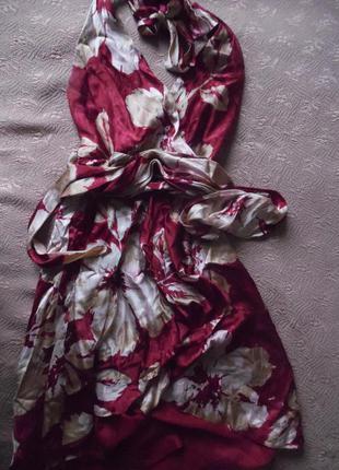 Шелковое платье bcbg max azria