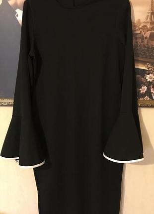 Платье миди с расклешенными рукавами от boohoo