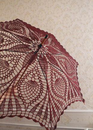 Ажурный персиковый зонт