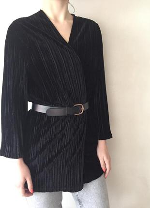 Кардиган - блуза замшевый велюровый на запах