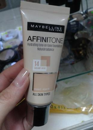 Maybelline affinitone тональный крем #14 кремово-бежевый
