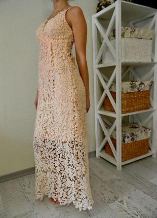 Шикарное нежное платье s m