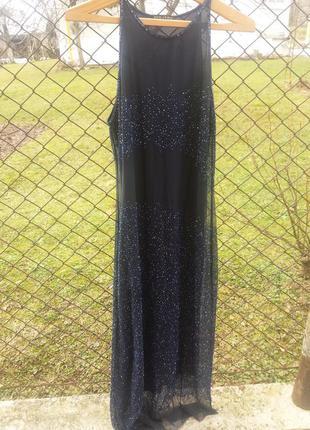Шикарное плаття впол розшитое бисером
