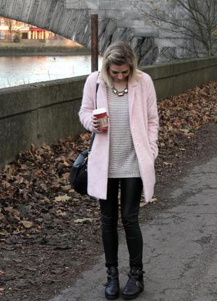 Пудровое пальто topshop