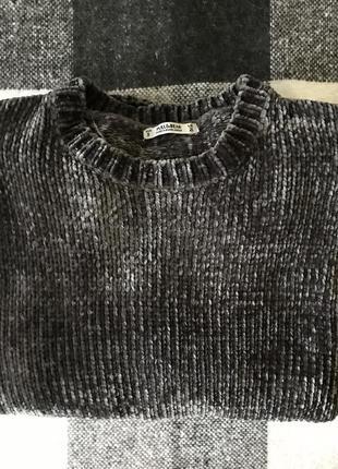 Бархатный свитер pull&bear