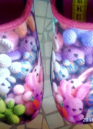 Тапки детские, тапочки, домашняя обувь. inblu.3