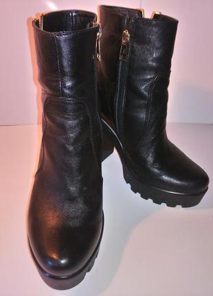 Ботинки/ботильоны из натуральной кожи