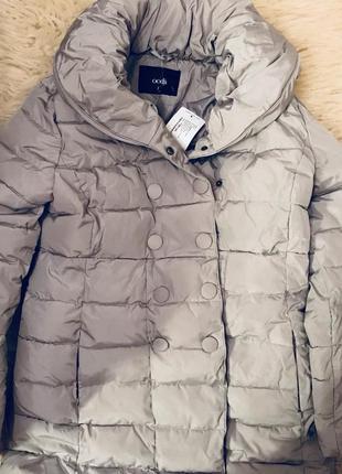 Удлиненная куртка с объемным воротом