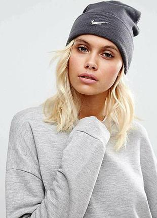Стильная брендовая спортивная шапочка/шапка- бини nike унисекс/универсал.
