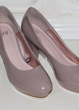 Лаковые туфли h&m, р. 36