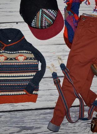 12 - 18 месяцев обалденный модный свитер джемпер мальчику с горловиной