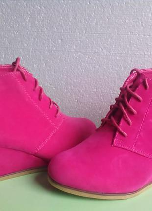Розовые ботиночки на танкетке