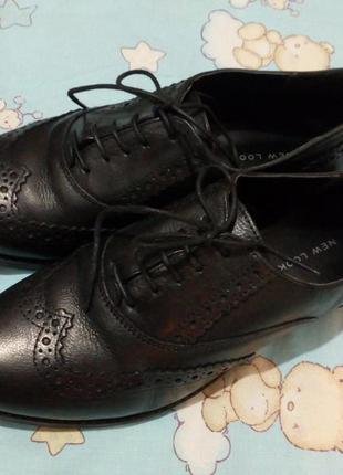 Туфли-оксфорды, броги натуральная кожа 38 р