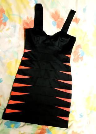 Платье h&m стрейч атлас