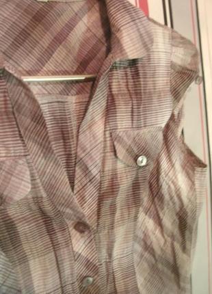 Приталенная немнущаяся блузка