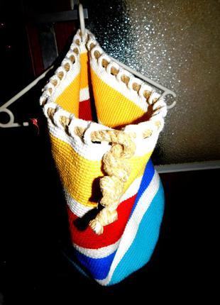 Сумка, мешок, вязанная, покупка с италии, оригинал!....