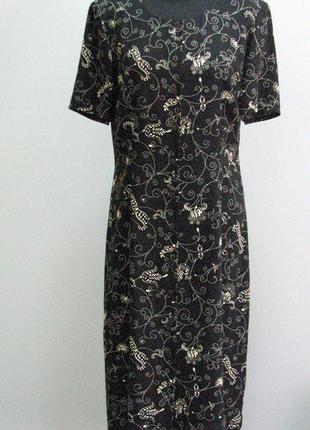 Marks and spencer черное платье-рубашка