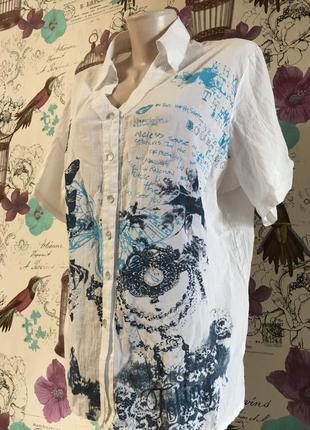 Акция!рубашка из натуральной ткани