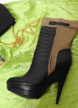 Новые!!!стильные брендовые полусапожки из натуральной кожи braska.