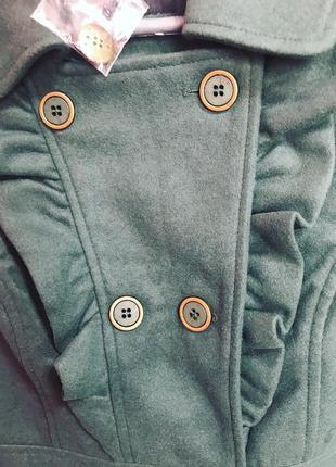 Пальто темно зеленого кольору bodyflirt