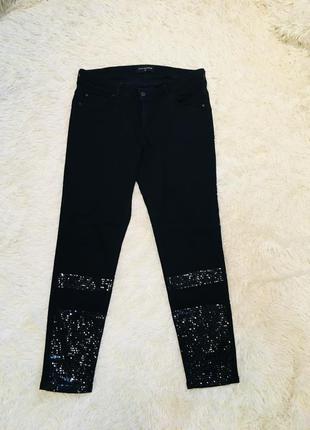 Чёрные джинсы reserved с пайетками