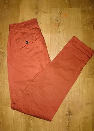 Брюки, джинсы кирпичным цветом