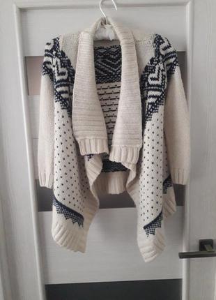 Кардига вязаный свитер в орнамент теплый от candy
