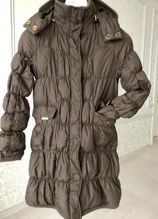 Пальто/ куртка / стеганое/ коричневое//размер s/m