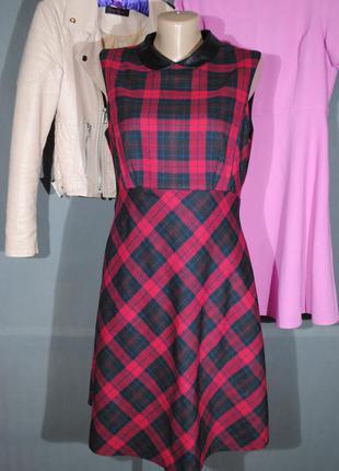 Классное платье в клетку f&f, uk 12 (м-л)