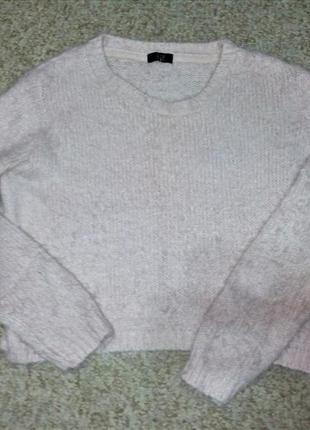 Пушистый свитер-травка f&f