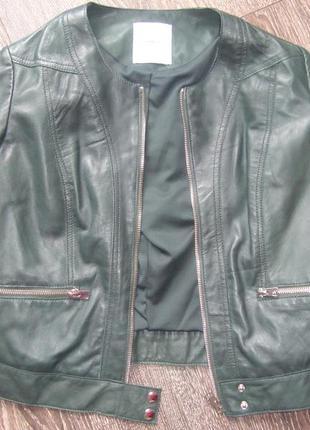 Кожаная куртка mangо, р. м