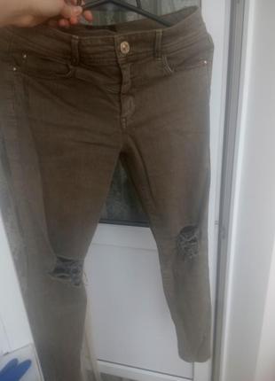 Джинси джинсы скини скіні хакі