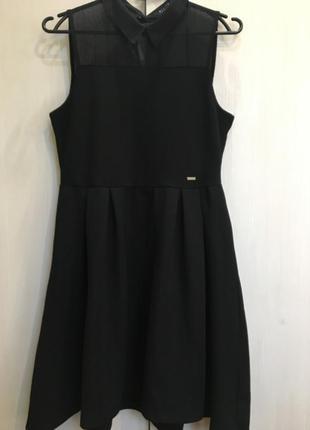 Модное чёрное платье mohito