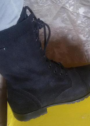 Крутые ботинки diesel кожа внутри и снаружи