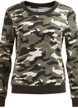 Свитшот милитари от vila clothes